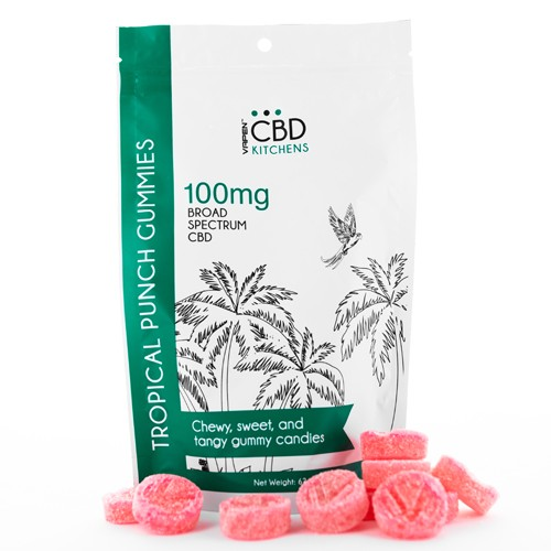 Tropical Punch CBD Gummies | 10mg Per Serving